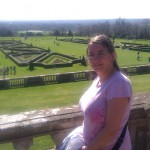 Noeleene standing on the South terrace at Cliveden